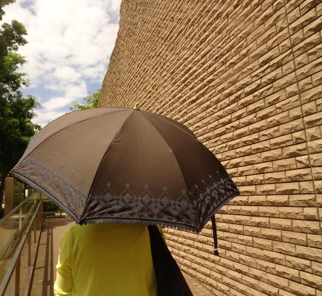日傘の女性(後姿)