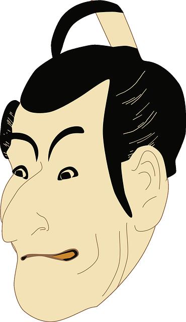 歌舞伎(顔イラスト)
