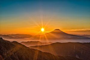 富士山・朝陽
