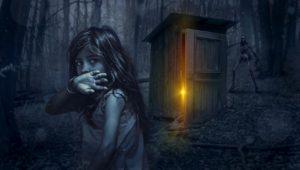 小屋・少女・暗い