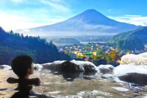露天風呂・富士山