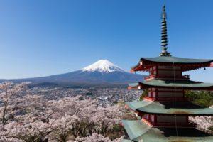富士山・五重塔・桜