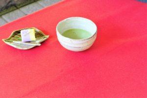抹茶と主菓子