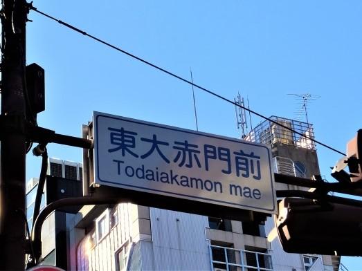 東大赤門前(信号標識)